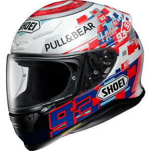 SHOEI Z-7 MARQUEZ POWER UP! [ROT-WEISS] HELM
