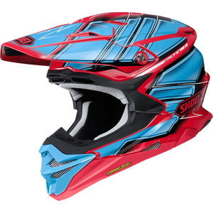SHOEI VFX  -  WR GLAIVE [Bouyff X  -  Dave Ruhr Gray V TC  -  1 RED /