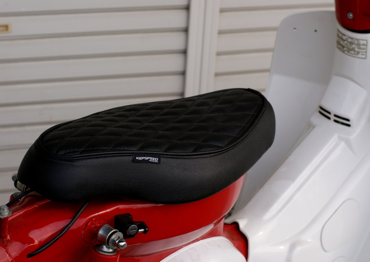 GM-MOTO Diamond Cut for CUB Custom Seat Black