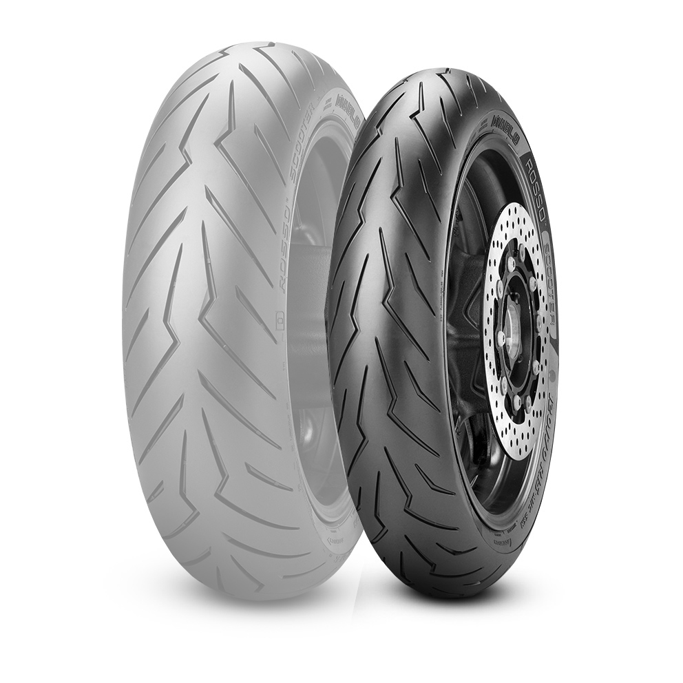 PIRELLI DIABLO ROSSO SCOOTER [100 / 90-12 64P TL Reinf] Band