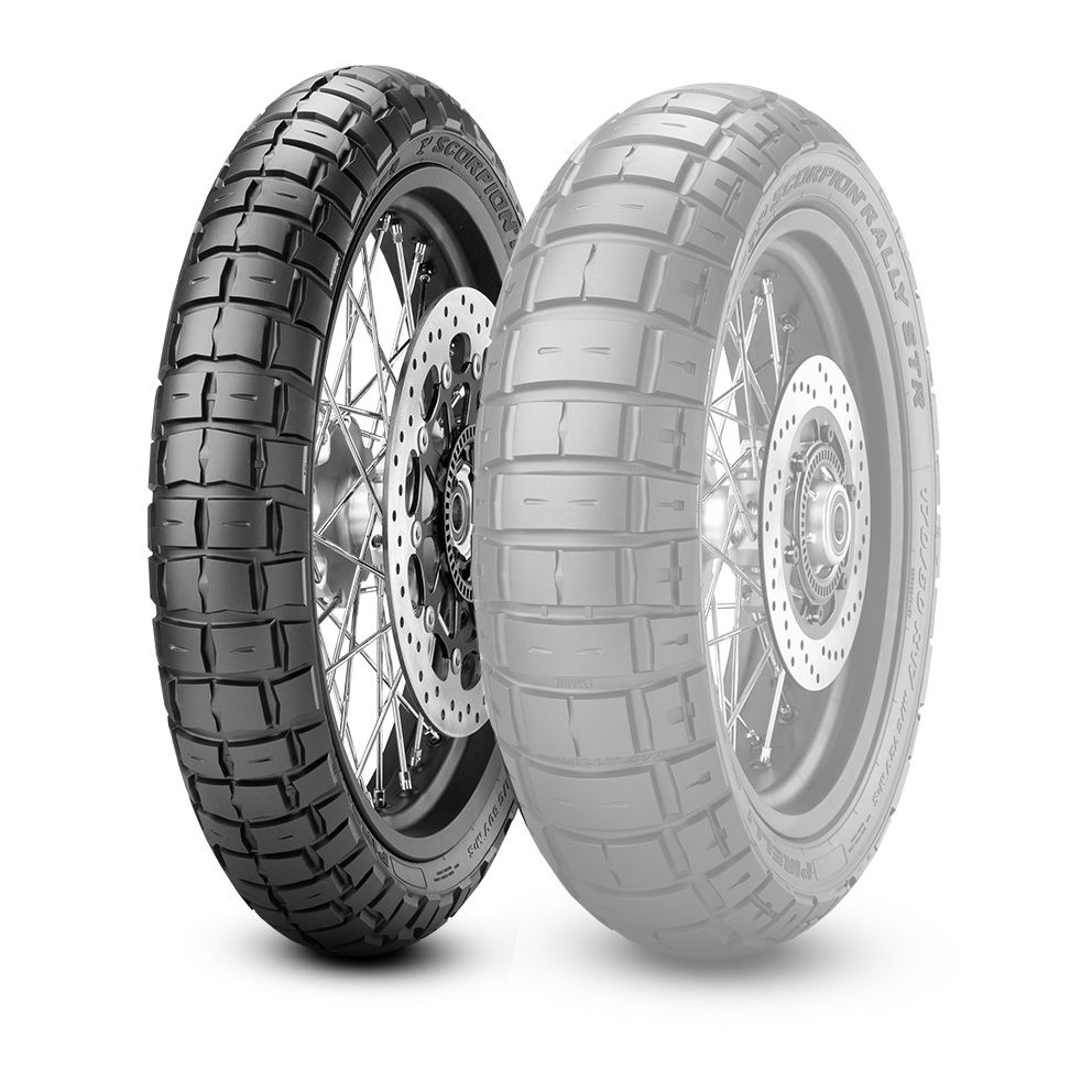 PIRELLI 스코필드 랠리 STR [120/70 R 18 M / C 59V M + S TL] SCORPION RALLY50 ST