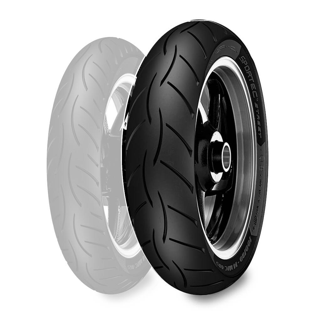 Metzeler ME888 Marathon Ultra Rear Tire Wide Whitewall 180//65B-16