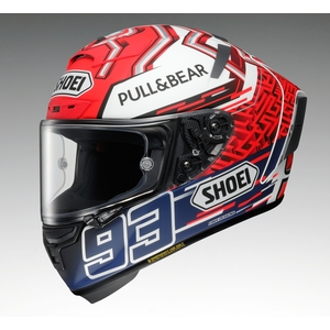 SHOEI X-14 MARQUEZ5 [TC-1 ROOD / WIT] Helm