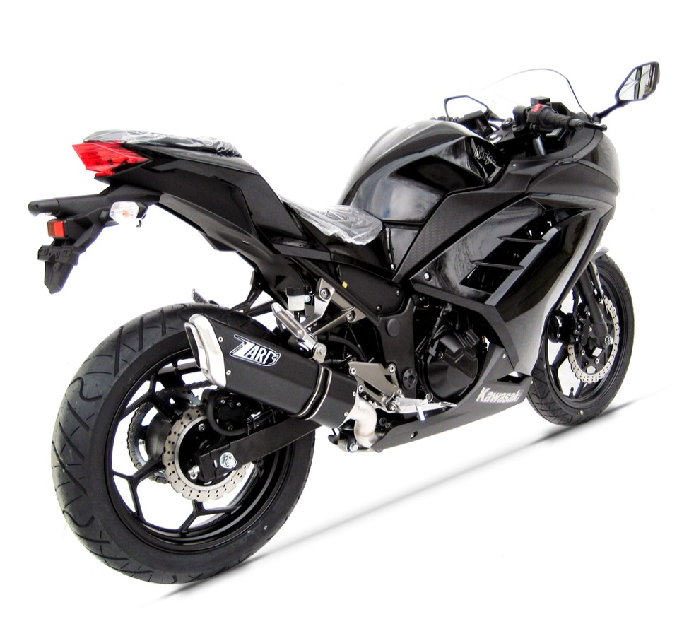 ZARD STEEL-ALUMINIUM BLACK SILENCER RACING WITH REMOVABLE DB KILLER Exhaust System