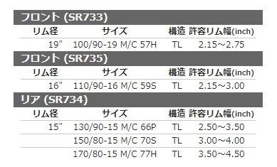 SHINKO SR-734 150//80-15 70S