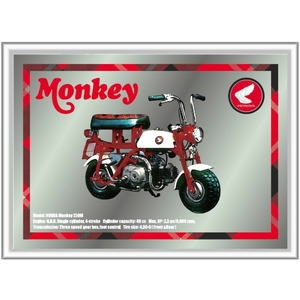HONDA MONKEY Frame Stamp & Pub Mirror Set