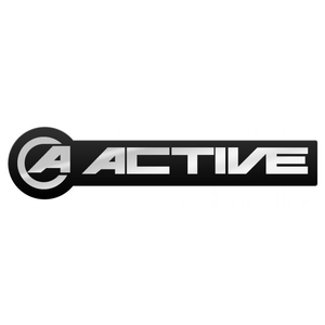 ACTIVE AKTIV Metal Type Logo Sticker