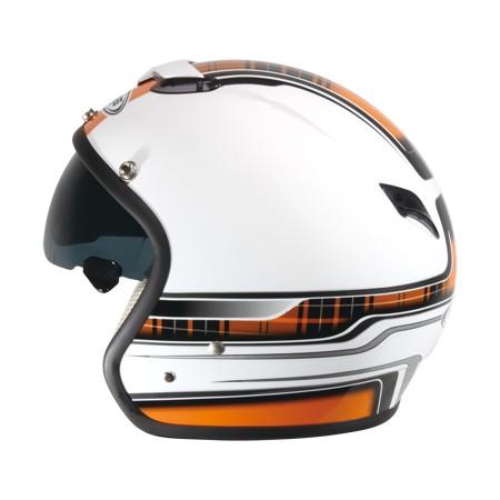 ZEUS   ZS-381C RETRO Open Face Hjälm K39 Graphic (Vit   orange)  ZS ... fd62f64b90b74