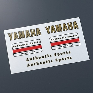 YAMAHA Authentic Sports Sticker