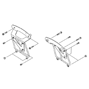 KAWASAKI Saddle back Support Bracket