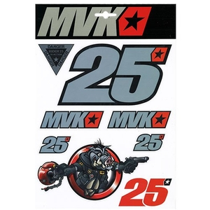 YAMAHA MVK Vinales Sticker Big Set