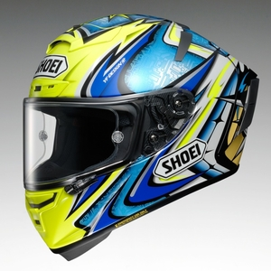 SHOEI X-14 DAIJIRO [TC-3 YELLOW/BLUE] Helmet