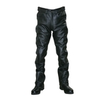 [HEAVY] Leather Straight Pants With Removable Knee Pad
