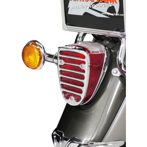 HIGHWAY HAWK Tail Lamp Cover Chrome ABS