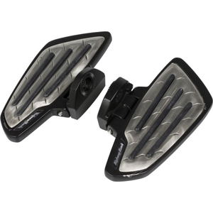HIGHWAY HAWK Floorboard Set New Tech Black Metal Passenger