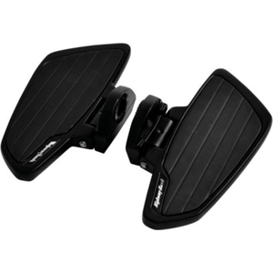 HIGHWAY HAWK Floorboard Set Smooth Passenger Black