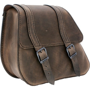 HIGHWAY HAWK Single SIDE Bag Brown HARLEY-DAVIDSON DYNA