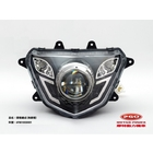 Fish Eye Lens Motorcycle Headlight Assembly