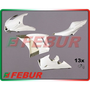 FEBUR SET RACING FIBERGLASS FAIRING
