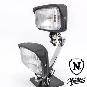2%er [NEUTRAL] Dual Light Kit Vintage Style Square Light Black SR400 SR500 XS650