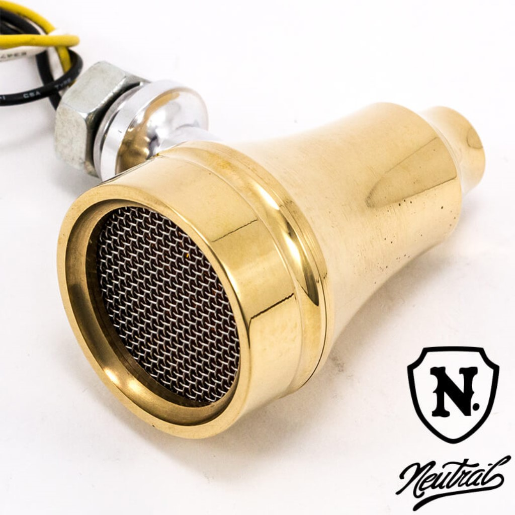 [NEUTRAL] Brass Cut-out Mesh Blinker