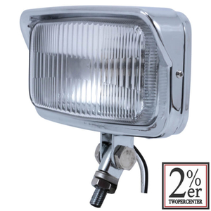 2%er Vintage Style Square Headlight