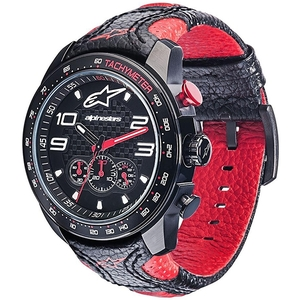 alpinestars Tecwatch CHRONO in pelle nera