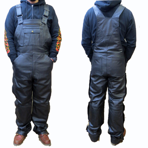 Motobluez [Allstate Leather] Leather Overall Pants