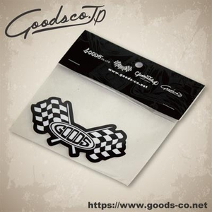 GOODS Special Water Resistant Laminate Sticker [MGG CHECKER FLAG]