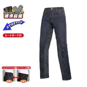 ROUGH&ROAD Stretch Denim Heat Guard Pants Loose Fit