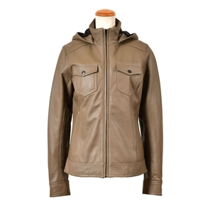 ROSSO Hooded Leather Blouson (Ladies)