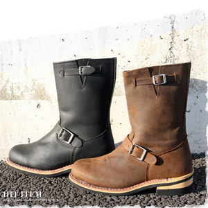 Motobluez [GOD&BLESS] All OEM Leather Engineer Boots Red Wing Type