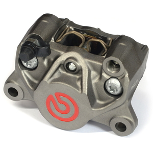 brembo Rear Brake Caliper P2 34 84mm Titanium Color/Red Logo