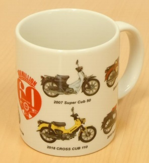 SUPER CUB 60th Anniversary Mug Cup