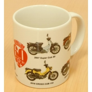 HONDA RIDING GEAR SUPER CUB 60e verjaardag mok beker
