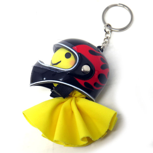Motobluez [Happy Yellow] Terubou & Mini full-face Key Holder Set (Frame)
