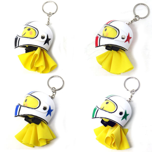 Motobluez [Happy Yellow] Terubou & Mini full-face Key Holder Set (Star)
