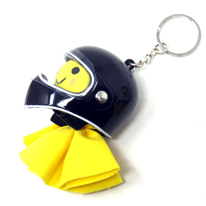 Motobluez [Happy Yellow] Terubou & Mini full-face Key Holder Set
