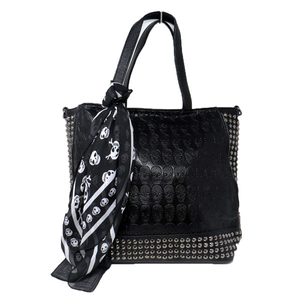 Motobluez 4way Studs Skull Tote Bag with Inner Bag