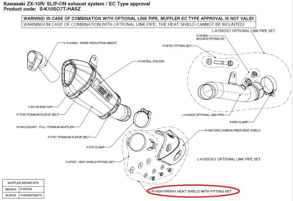 KAWASAKI NINJA ZX-10R: Exhausts - Webike