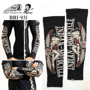 Motobluez Arm Shade INDIAN MOTOCYCLEXBETTY BOOP Zusammenarbeit mit Indianx