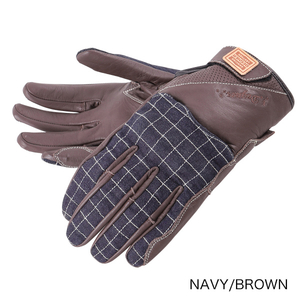 DEGNER Leatherdenimcombination Glove Ladies
