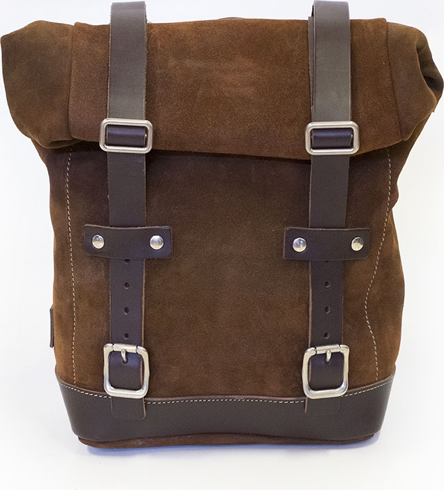UNIT GARAGE Side Pannier Waxed Suede