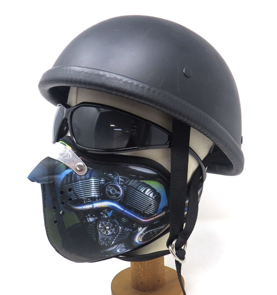 Motobluez [MASCA] Neoprene Half Face Mask [Engine A]