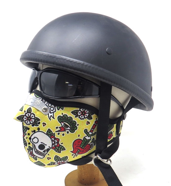 Motobluez [MASCA] Neoprene Half Face Mask [Yellow]