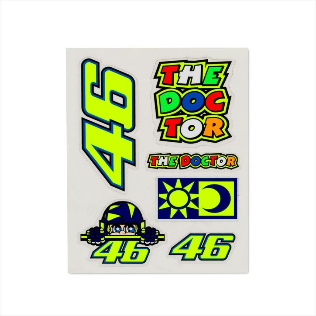VR46 VR46 SMALL STICKERS SET