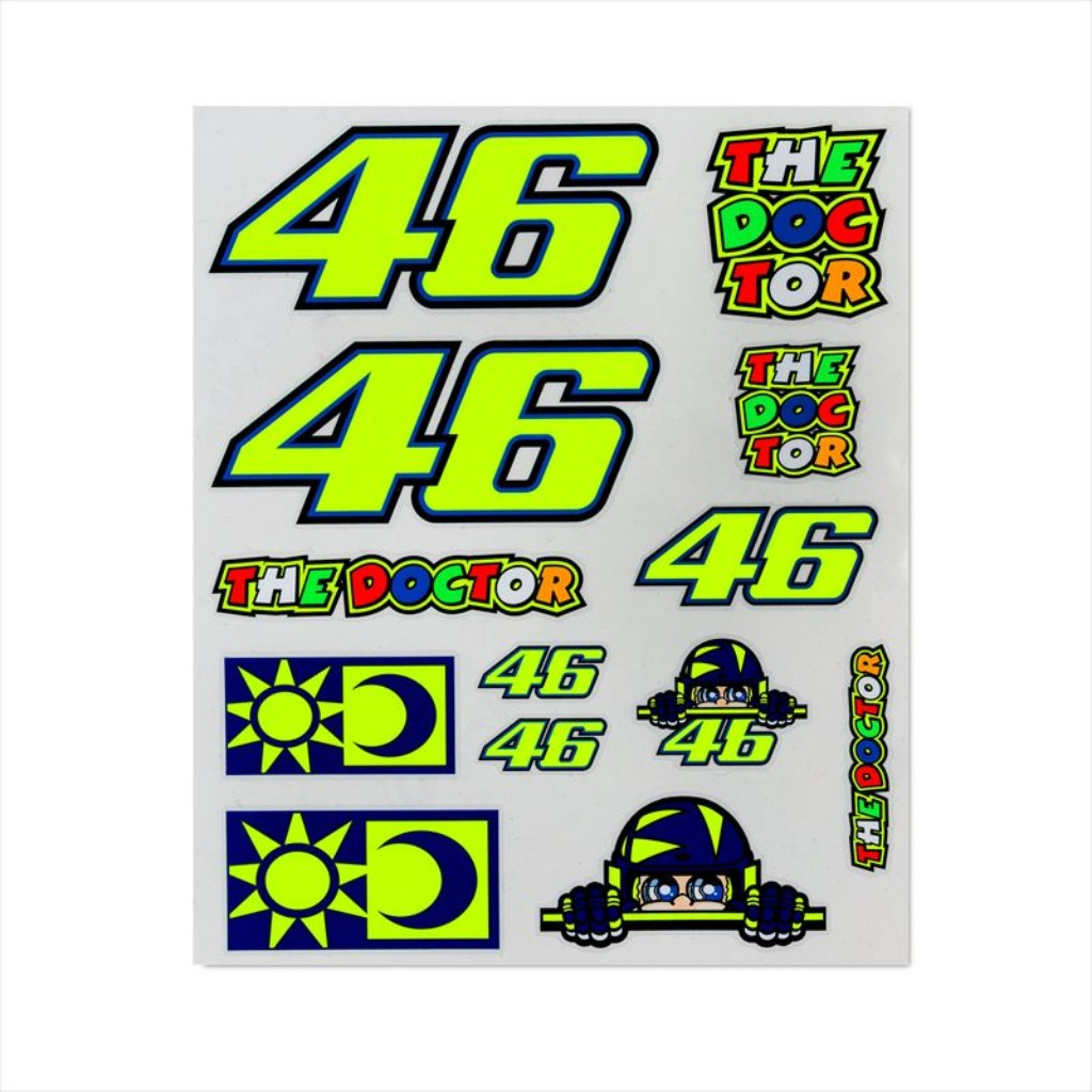VR46 VR46 LARGE STICKERS SET