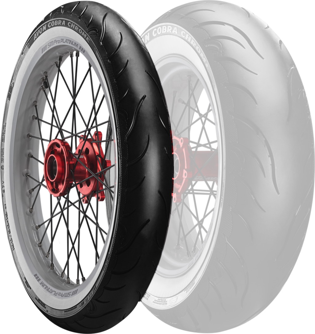 AVON Cobra Chrome AV91 WW [100/90-19 57V] White Wall Tire