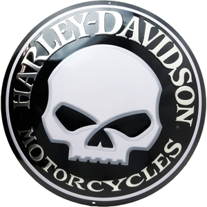 RIDEZ Embossmetal Sign H-D WILLY SKULL