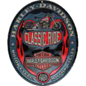 RIDEZ Embossmetal Sign H-D Classic Ride Oval